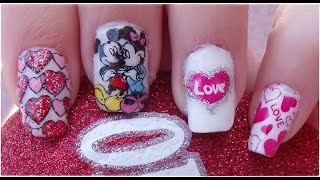 Download Diseño de Uñas Disney Mickey y Minnie para San Valentín / Nail Design Disney Video