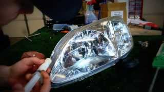 Download How to repair a headlight with moisture/water in it! Video