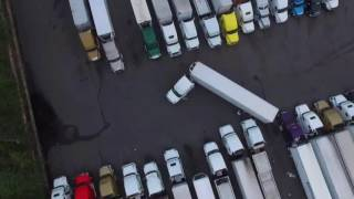 Download Backing fail in tight truck stop Video