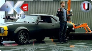 Download Bumble bee Meets Stinger Scene Transformers 4 Age of Extinction 2014 CLIP IMAX (4K) Video