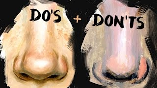 Download Do's and Don'ts of Realistic Nose Painting Art Video