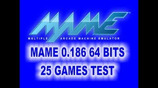 Download MAME 0.186 64 BITS 25 GAMES TEST Video