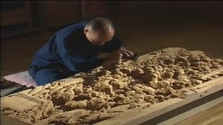 Download Incredible Edo wood Sculpture Techniques - Craftsmen do not use any kind of Knife. Video