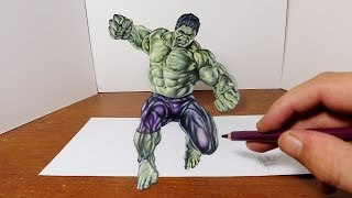 Download Drawing The Hulk in 3D - Cool Optical Illusion Trick Art Video