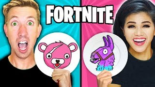 Download FORTNITE PANCAKE ART CHALLENGE! Learn How To Make LLAMA & POND MONSTER in REAL LIFE DIY Pancake! Video