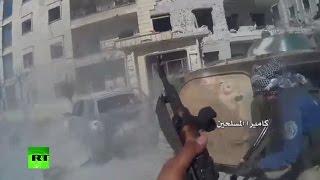 Download Killed in combat: Al-Nusra militants in chaotic urban warfare in Syria (POV cam footage) Video