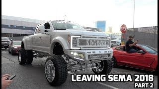 Download Leaving SEMA 2018 Part 2 | 15 Min of vehicles! Video