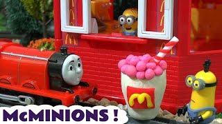 Download Despicable Me 3 Minions McDonalds Drive Thru Play Doh Burger Happy Meal Toys Cars Thomas Train TT4U Video