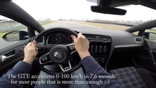 Download VW Golf GTE - track test, Sturup Raceway Video