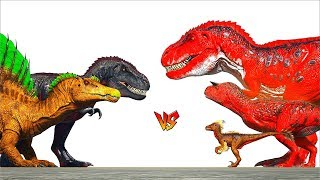 Download Ark Survival - TREX n SPINO vs ALPHA DINOS [Ep.260] Video