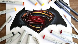 Download Batman v Superman drawing Video