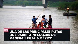 Download Migrantes mantienen cruce en el río Suchiate Video