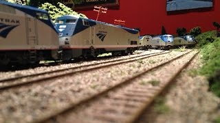 Download Running Some of My HO Scale Amtrak Trains on My New Layout Video