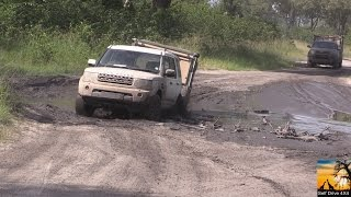 Download Towing Caravan In Moremi Botswana. Mud And Water. Video
