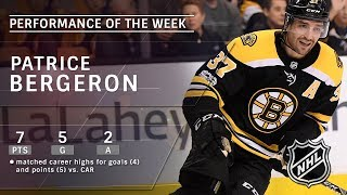 Download Patrice Bergeron matches career highs during marvelous offensive week Video