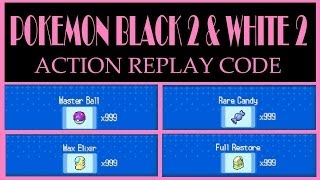 Download Pokemon Black 2 and White 2 - x999 Master Ball Action Replay Code Video