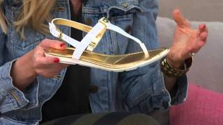 Download Marc Fisher T-strap Sandals w/ Backstrap - Ademi with Jane Treacy Video