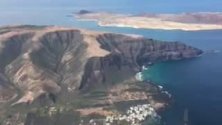 Download Landing at Lanzarote (Canary Islands) HD Video