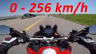 Download 2017 Ducati Multistrada 1200 - Acceleration 0-256km/h & Exhaust Sound & Burnout & Wheelie & Off-road Video
