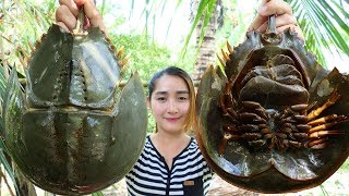 Download Yummy Horseshoe Crab Salad Cooking - Horseshoe Crab Cooking - Cooking With Sros Video