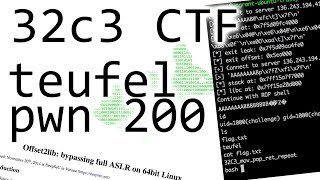 Download ROP with a very small stack - 32C3CTF teufel (pwnable 200) Video