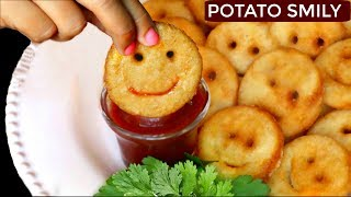 Download How To Make Potato Smiley   Easy Snacks For Kids Lunch   CookWithNisha Video