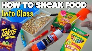 Download 5 Simple Ways To Sneak Food Into Class When You're Hungry - School Hacks For Kids (HOW TO HACK) Video