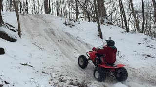 Download trx450r RAW winter clips Video