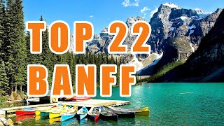 Download TOP 22 Banff Attractions - All Things To Do - Scenic Drive - Lake Louise and Jasper Video