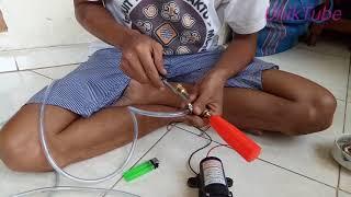 Download Merakit Pompa High Pressure 12V DC menjadi alat cuci mobil motor Ac dan lain lain Video