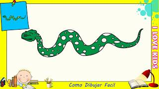 Download Como dibujar una serpiente FACIL paso a paso para niños y principiantes 1 Video