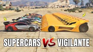Download GTA 5 ONLINE - VIGILANTE VS SUPERCARS PART#01 (WHICH IS FASTEST BATMOBILE VS SUPERCARS?) Video