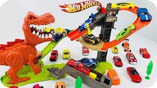 Download Dinosaurios para Niños - Hot Wheels Pista de Duelo T-Rex - Carritos para Niños Video