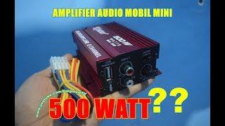 Download Mini Amplifier Audio Mobil 500 WATT? YA AMPUN! Kinter MA-150 Video