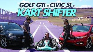Download DESAFIO VOLKS GOLF GTI x HONDA CIVIC Si x KART SHIFTER - ESPECIAL #14 | ACELERADOS Video
