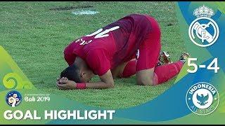 Download Gol Highlights: Real Madrid U20 (5) vs (4) Indonesia All Stars U20 | U20 International Cup 2019 Video