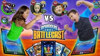 Download REAL LIFE SKYLANDERS BATTLECAST FIGHT w/ Magic Cards!! Video