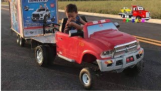 Download Kruz Buying Powered Ride On Ford Raptor At Walmart Somebody Stole His Wheel on His Flatbed Truck Video