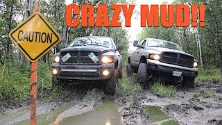 Download MUDDING WITH LIFTED TRUCKS *GOT STUCK* Video