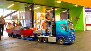 Download BIG SCALE HEAVY HAULAGE RC TRANPORT BOOT! MAN! CONTAINER-SHIP! RC HEAVY TRUCK TRANSPORT! Video