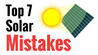 Download Top 7 Mistakes Newbies Make Going Solar - Avoid These For Effective Power Harvesting From The Sun Video