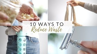 Download 10 WAYS TO REDUCE WASTE + money saving tips   zero/low waste for beginners Video