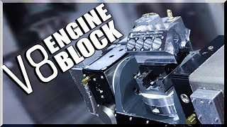 Download 5-Axis CNC Machined V8 Engine Block! Video