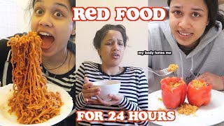 Download i only ate red food for 24 hours | clickfortaz Video