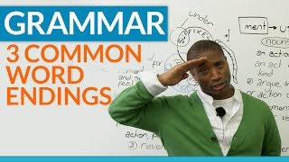 Download English Grammar - Word Endings - What are suffixes? Video