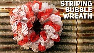 Download DIY Dollar Tree Striping Bubble Wreath Using Three 10 Inch Rolls Of Deco Mesh - Christmas 2019 Video