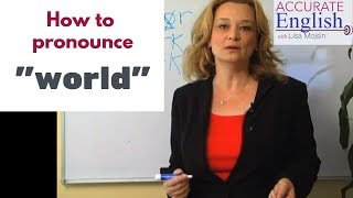 Download Difficult words ″world″, etc.  Accurate English Video