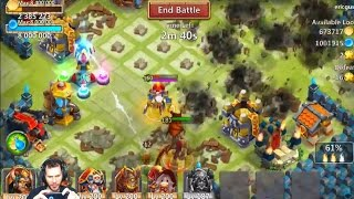 Download Double Evolving My 7/8 Bukwark Grimfiend SMASHING Bases With Him Castle Clash Video