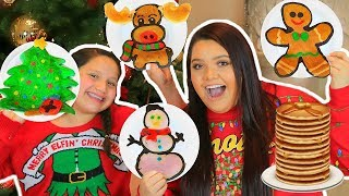 Download PANCAKE ART CHALLENGE! How To Make Holiday Art Pancakes! Video