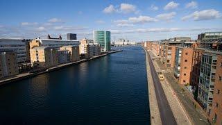 Download Sightseeing in Copenhagen by Drone Video